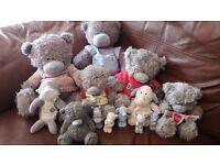 Job lot of tatty teddy items