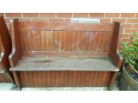 BENCH CHURCH STYLE JUST NEEDS VARNISHED / PAINTED IN GREAT ORDER £100