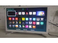 """SAMSUNG UE22H5610 White 22"""" Built In ***WiFi Smart*** LED TV Full 1080p HD Freeview HD"""
