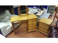 Solid pine wood desk & 3 drawer locker £60 delivered