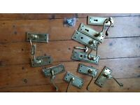 Used brass rope scroll door handles