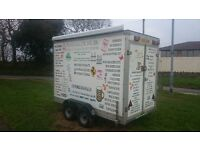 Box Trailer for sale Galvanized chassis all dry