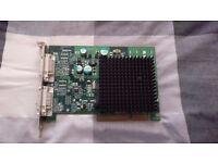 Matrox P650 dual DVI AGP graphics card