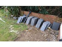 Grey slate roof tiles - approx 400 tiles - £0.50p each