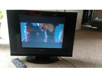 TV with Built in DVD player, great for small spaces