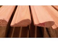 Traditional Ogee Pattern Picture Rail Moulding in Redwood (19.3 metres total)