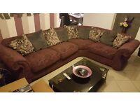 large purple corner sofa excellent condition rrp £2500