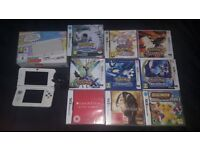 Nintendo 3DS boxed with charger & 9 games all boxed & working