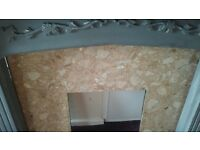fire surround with marble background