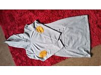New but no tags Grey Elbow Patch Kangaroo Pocket Hoodie Dress