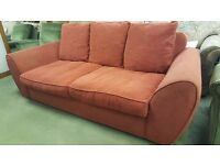 Bright Red Sofa in Excellent Condition