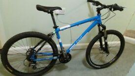Custom made jump bike, light weight frame, HOPE hydrollic brakes, and a rock shock suspension