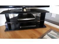 Black corner TV Unit