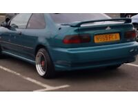 Honda civic eg auto coupe for sale ek 10months mot may swap with vw polo golf suzuki etc