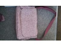 Girls baby changing bag and warmer