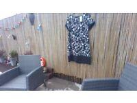 ladies size 20 black flower dress