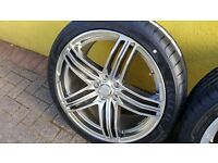 New 19in MAM 11 Alloy wheels (Audi fitment) in Hyper Silver and brand new Good Year Eagle F1 tyres.