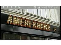Shop sign 3d Letters; fairground lights