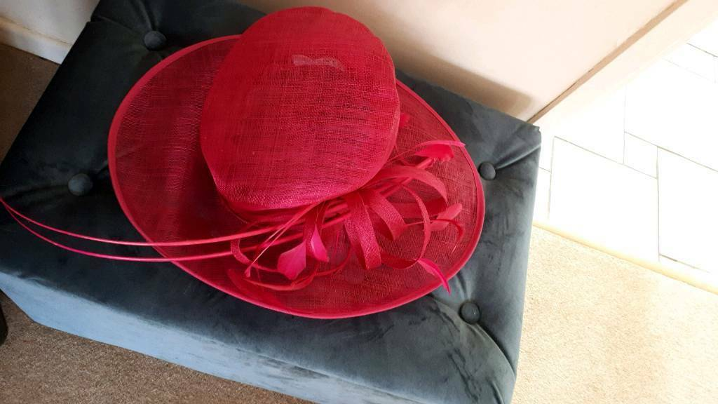 Cerise Pink Wedding Hat