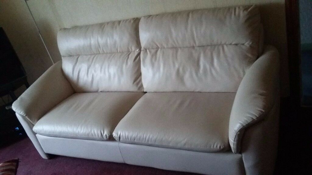 3 seater sofa for quick sale, cream colour - £80.00 ONO