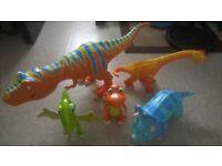 5 Dinosaur Train Interactive figure's.