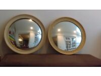 Pair of decorative vintage style mirrors