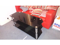 BLACK LARGE TV STAND SUIT 42 TO 50 INCH TV