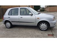Nissan micra 2002,petrol,Automatic,5 doors, HPI clear,Service book, new MOT,Only 47K,AC One owner
