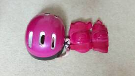 Girls Helmet with knee and elbow pads