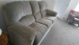 3 Seat Sofa which includes Recliner and Matching Recliner Chair from G Plan in imaculate condition