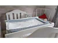White Wooden Changing Table/Mat