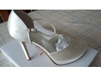 Rainbow club ivory wedding shoes