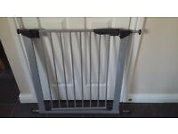 Stair gate - silver metal. Excellent condition. £15.