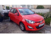 hyundai 120 hatchback , red, perfect condition, low mileage, full warranty