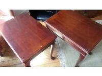 Mahogany Veneer End Tables (2)