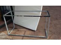 Metal framed tables