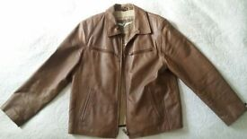 Men's Brown Authentic Classic Leather Jacket.