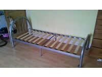 Metal single bed frame
