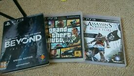 Ps3 games gta5 beyond two souls and assassins creed black flag