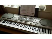 Casio piano synthesiser and stand