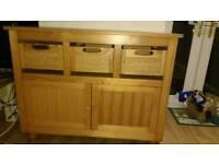 Solid wood sideboard cupboard drawer unit
