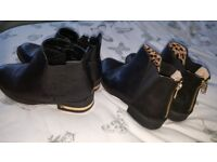 2 pairs of size 2 & 3 River Island boots