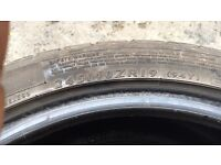 245/40/19 Dunlop pair 6mm Part worn tyres all sizes