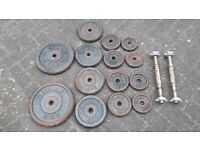 DUMBBELL 58KG CAST IRON WEIGHTS SET