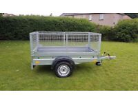 NEW trailer with mesh 6.7 x 4 x 3,12 BEST PRICE £720 inc vat