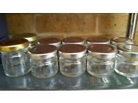 Small glass jars 1oz / 30 and 40 ml