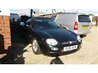 2001 1.8 mgf roadster LOW MILEAGE BLACK READY TO GO