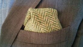 MENS DESIGNER Harris Tweed POCKET SQUARES ( Weddings / Suits / Kilts / Xmas Gifts / Handkerchiefs