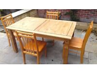 Pine Dining Table & Chairs SOLD