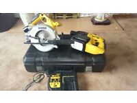 Lightly used Dewalt 24v cordless tools set, SDS drill, Circular saw, etc. See photos & details
